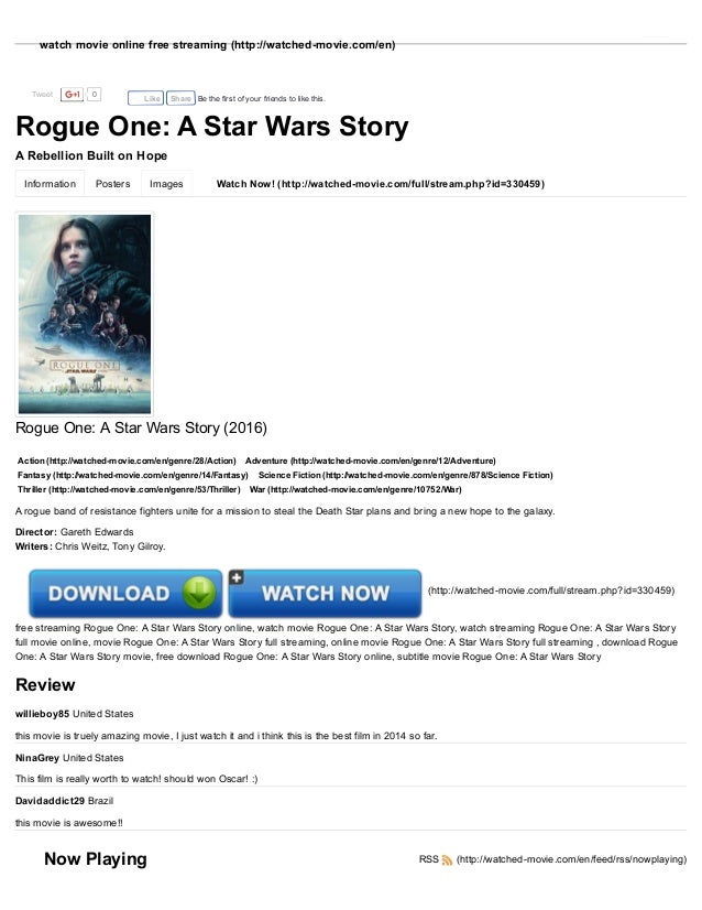 A Star Wars Story Rogue One Full Movie Online