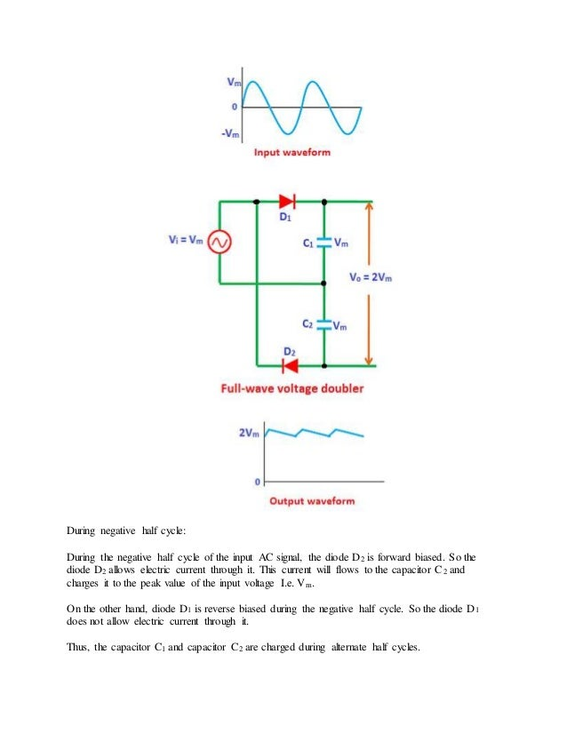 Sensational Full Wave Rectifier And Voltage Multipliers Wiring Digital Resources Unprprontobusorg