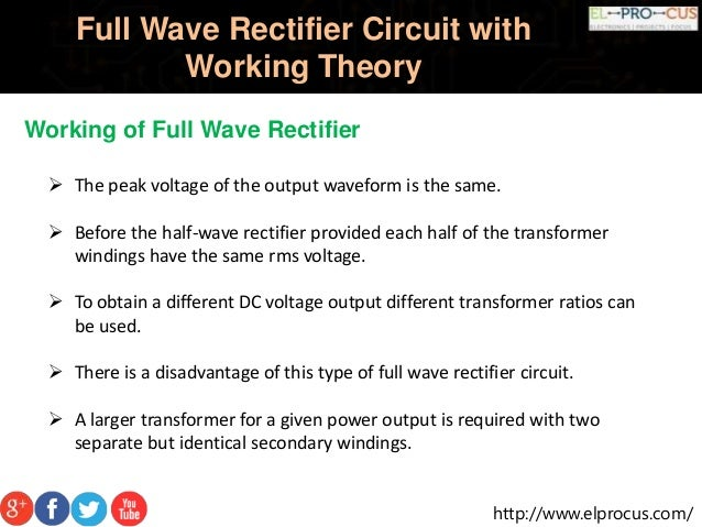 full wave rectifier circuit working and theory Basic DC Voltage Circuit DC Voltage Regulator Circuit