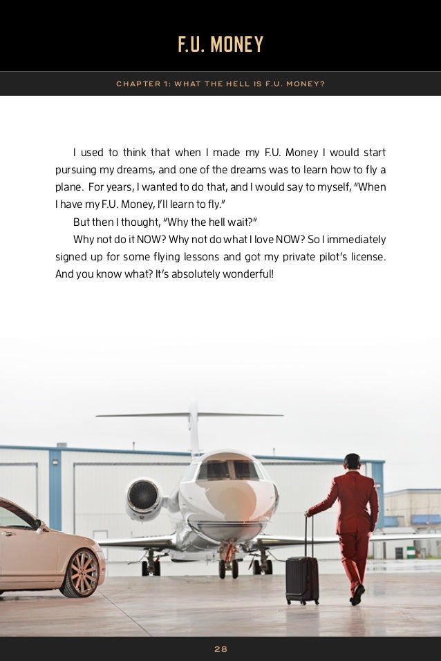 2 9 F.U. MONEY CHAP TER 1 : WHAT THE HELL IS F.U. MONE Y? What I found is that doing so didn't negatively affect my pursui...