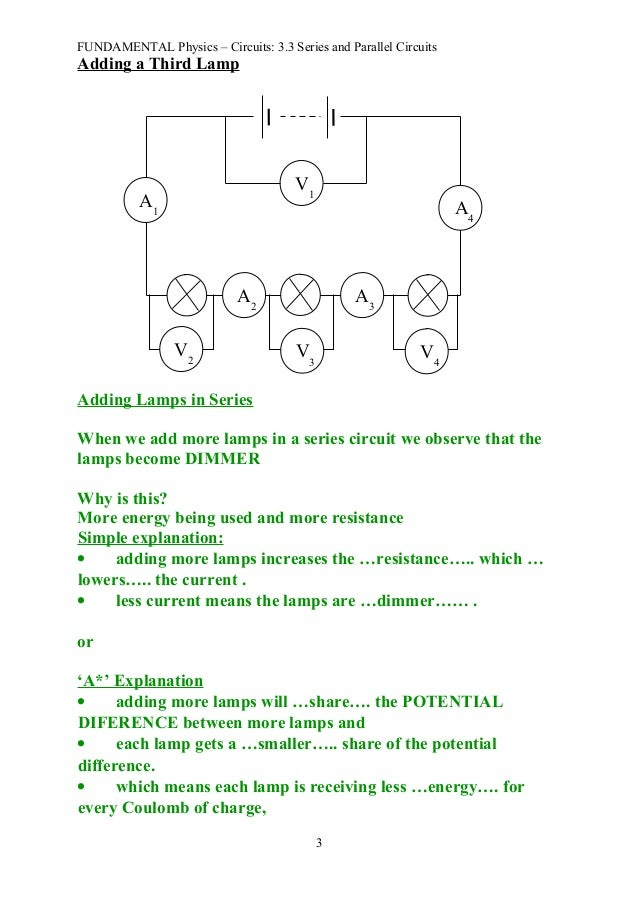 difference between series and parallel circuits pdf