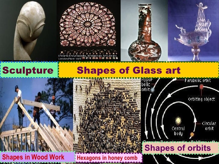 Sculpture Shapes of Glass art Hexagons in honey comb Shapes in Wood Work Shapes of orbits