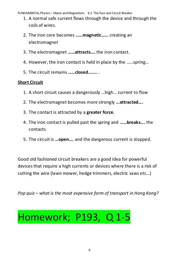 fun6 2 the fuse and circuit breaker notes