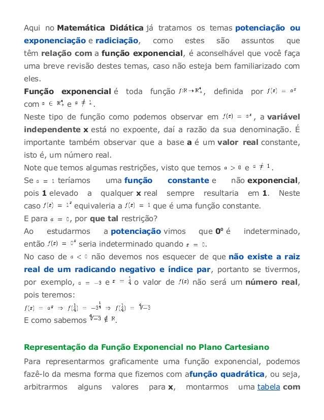 Aqui no Matemática Didática já tratamos os temas potenciação ou  exponenciação e radiciação, como estes são assuntos que  ...
