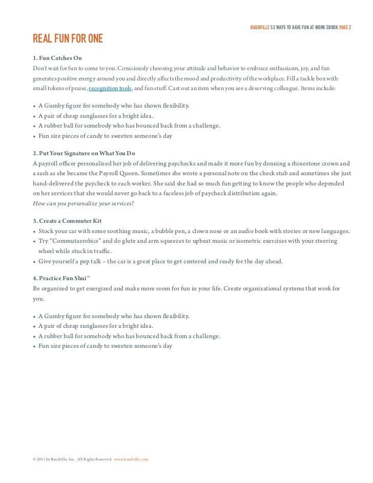 52 ways to have fun at work ebook fandeluxe PDF
