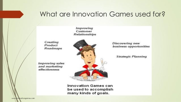 What are Innovation Games used for? www.innovationgames.com