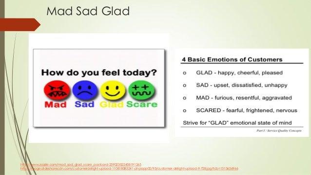 Mad Sad Glad http://www.zazzle.com/mad_sad_glad_scare_postcard-239023522438191265 http://image.slidesharecdn.com/customerd...