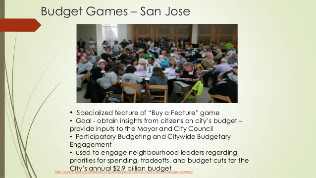 Budget Games – San Jose http://conteneo.co/conteneo-city-of-san-jose-produce-fourth-annual-budget-games/ • Specialized fea...