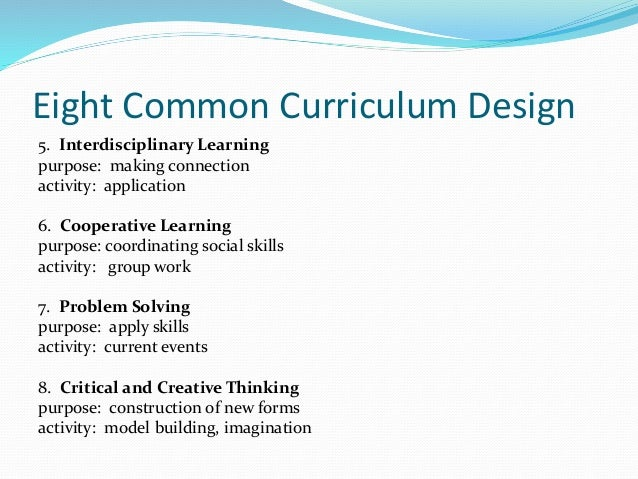 critical and creative thinking curriculum design In level a, students experience and respond to personally relevant and familiar situations and events that regularly and routinely involve activities and actions such as comparing, adding and removing, distributing, placing and moving.