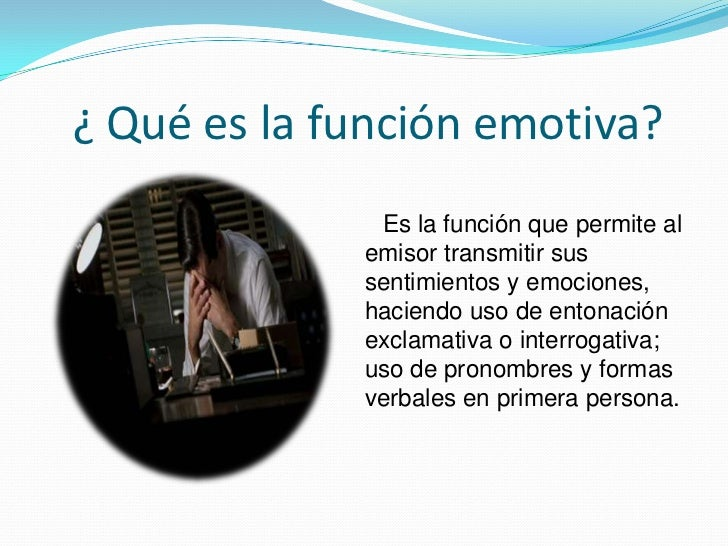 Función emotiva Slide 2