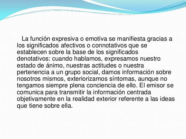 Función emotiva Slide 3