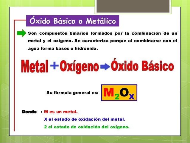 Función óxido