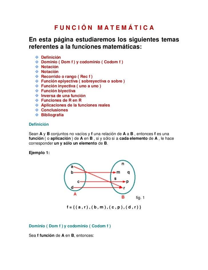 FUNCIÓN MATEMÁTICAEn esta página estudiaremos los siguientes temasreferentes a la funciones matemáticas:      Definición  ...