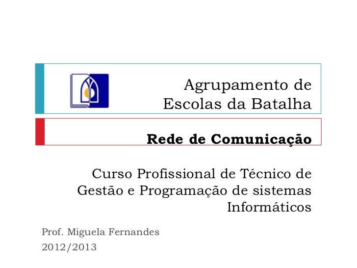 Agrupamento de                          Escolas da Batalha                    Rede de Comunicação        Curso Profissiona...