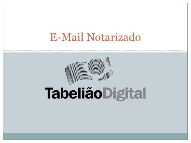 E-Mail Notarizado