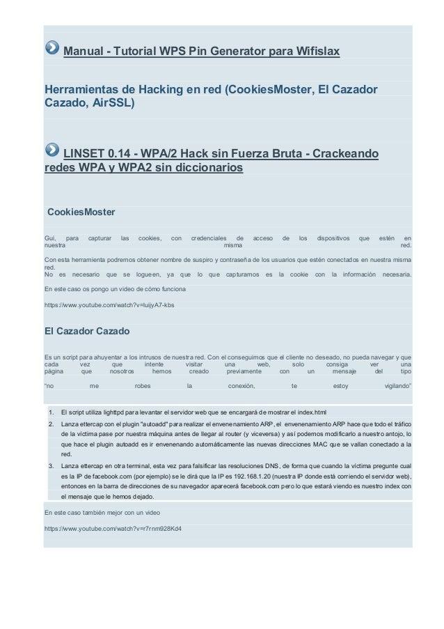 Wps Pin generator wifislax