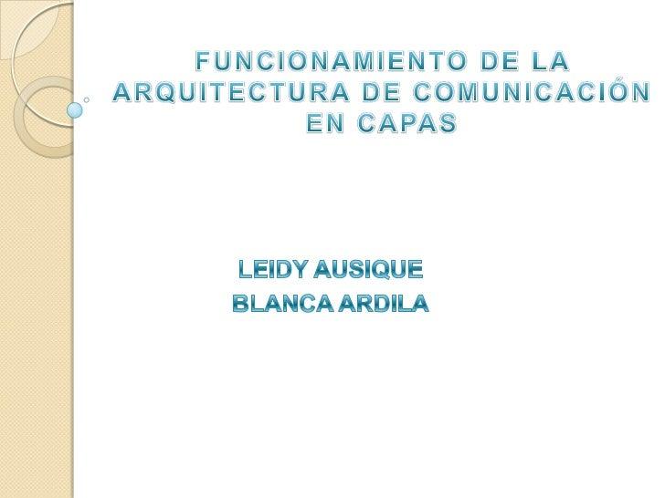 Funcionamiento de la arquitectura de comunicaci n en capas for Arquitectura de capas software