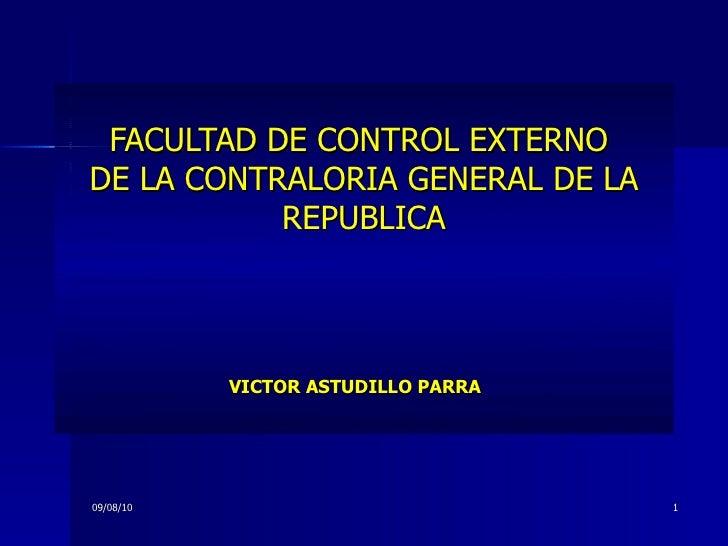 Funcion control externo