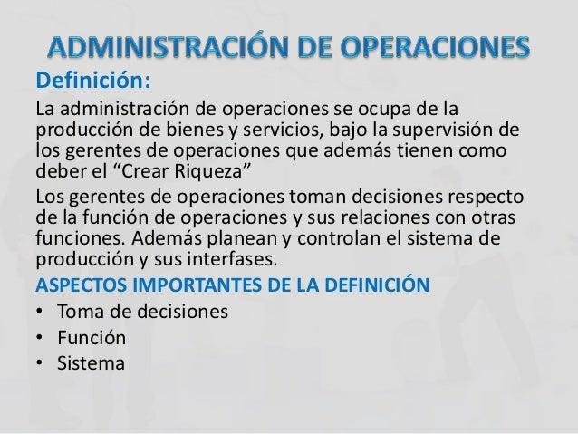 Funciones for Oficina definicion