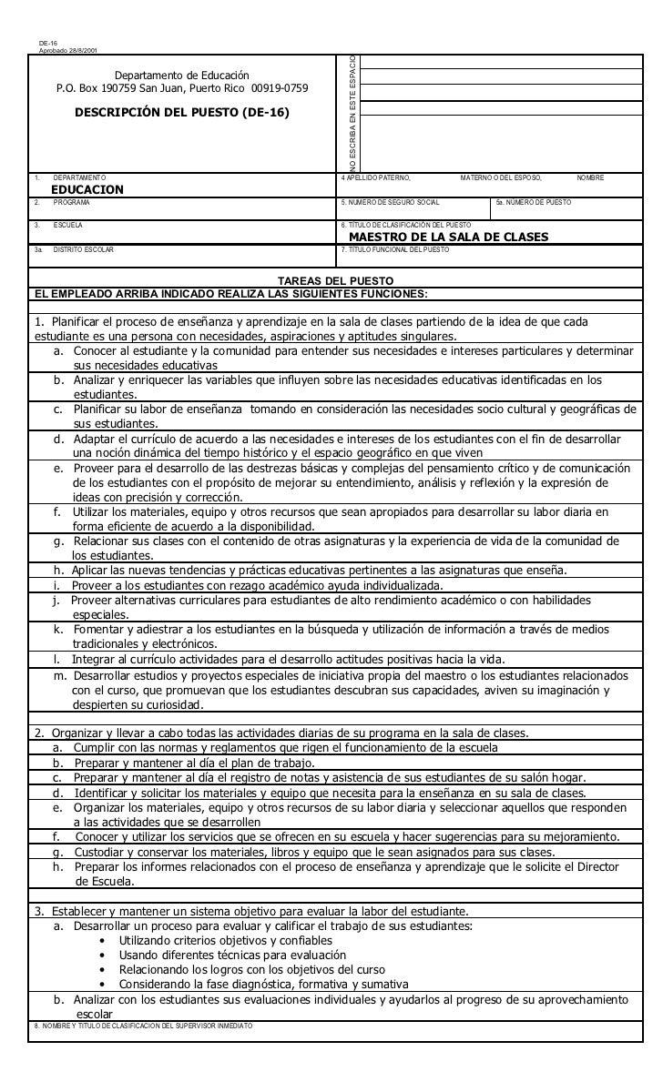Encantador Tareas De Trabajo De Maestro De Educación Especial ...