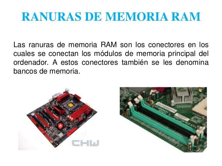Que es slot de memoria ram