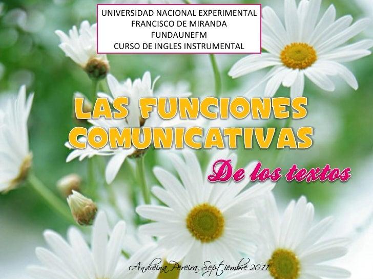 UNIVERSIDAD NACIONAL EXPERIMENTAL FRANCISCO DE MIRANDA FUNDAUNEFM CURSO DE INGLES INSTRUMENTAL