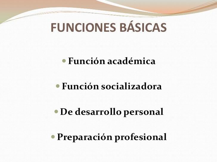 Funciones De La Educacion