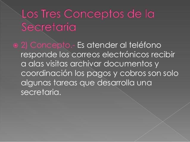 Funciones de la secretaria for Explique que es una oficina
