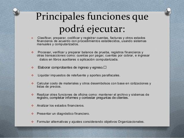 Funciones del auxiliar contable for Funciones de una oficina wikipedia