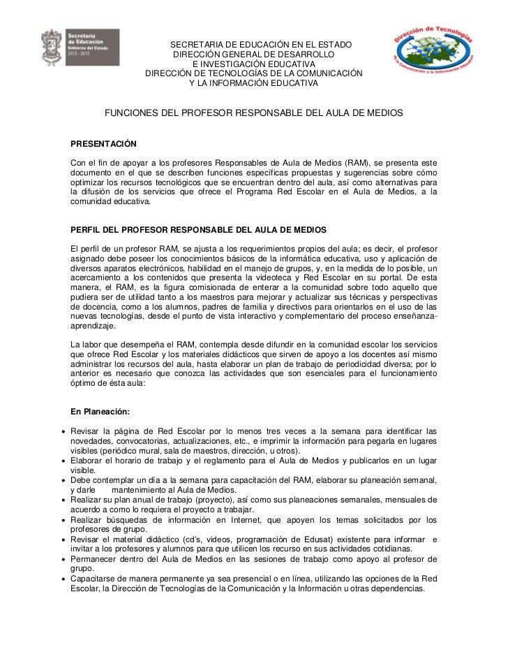 SECRETARIA DE EDUCACIÓN EN EL ESTADO                            DIRECCIÓN GENERAL DE DESARROLLO                           ...