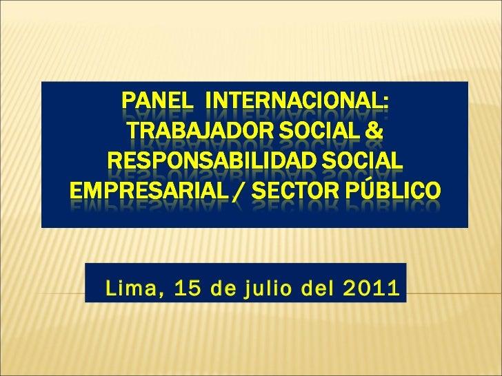 Lima, 15 de julio del 2011