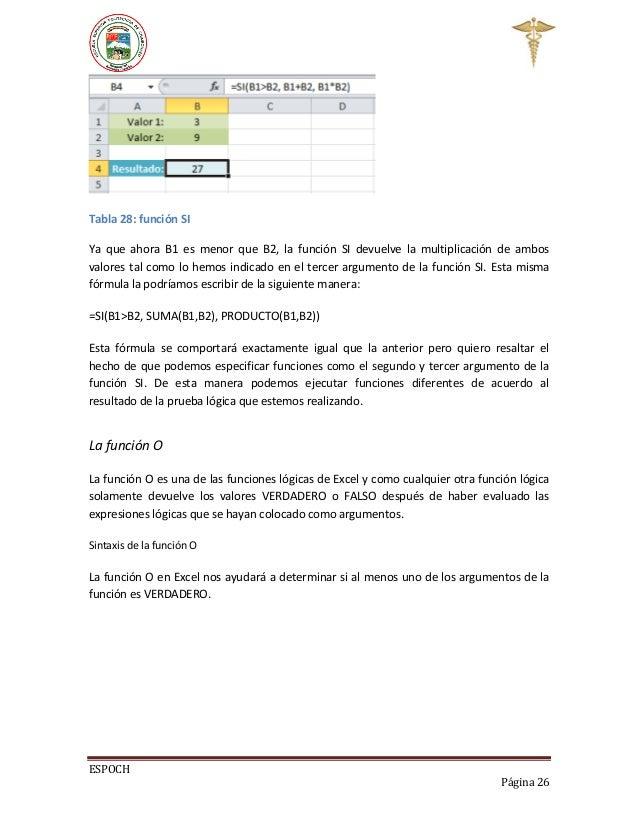 Funciones de microsoft excel pdf