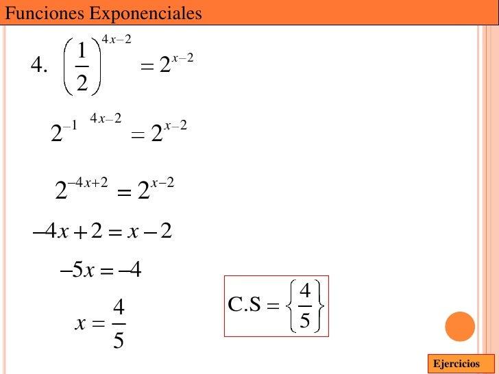 Funciones Exponenciales                 4x 2            1                    x 2   4.                        2            ...