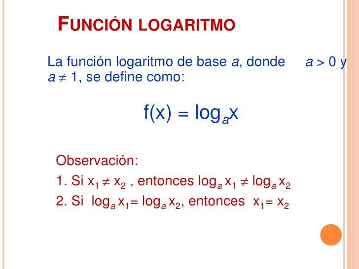 GRÁFICAS DE Y = 2X, Y = LOG2 X x   y                         y = 2x1/4 -21/2 -1                 2                 1       ...