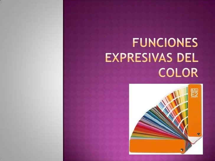 Funciones expresivas del color<br />