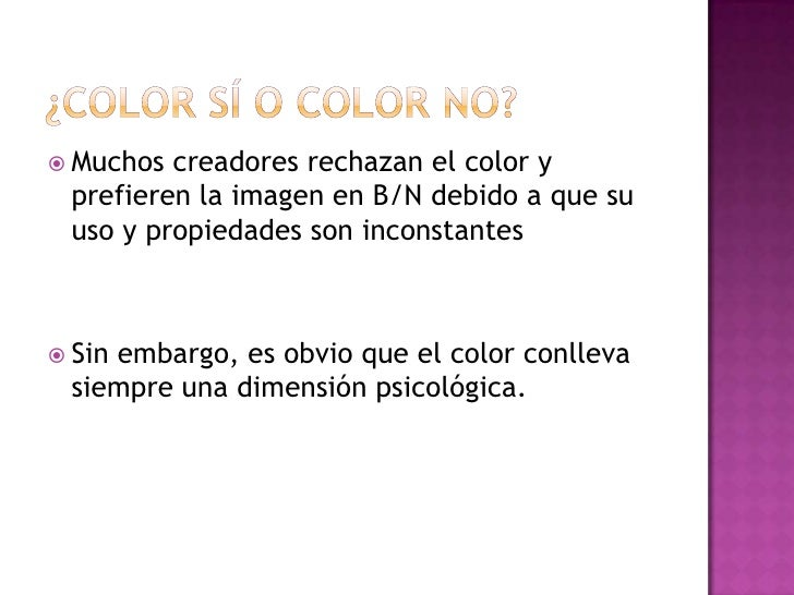 Funciones expresivas y tratamiento color Slide 2