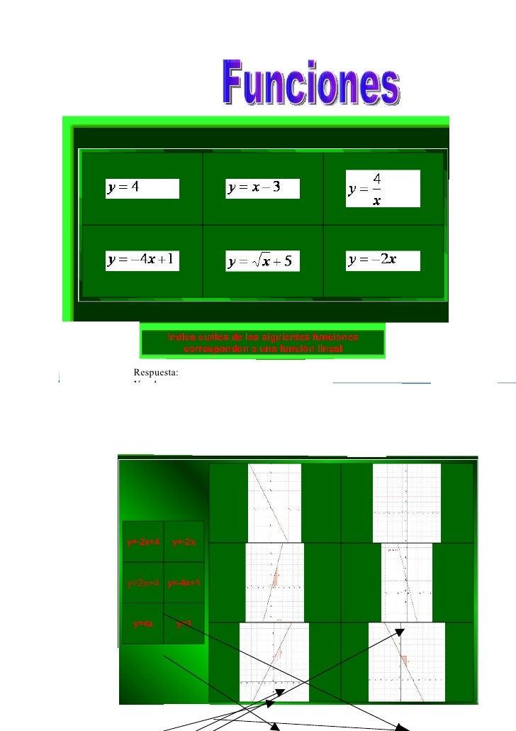 Respuesta:Y=4Y= X – 3Y= -4X + 1Y= -2X Indica cuáles de los puntos pertenecen a la recta definida por la función  Completa ...