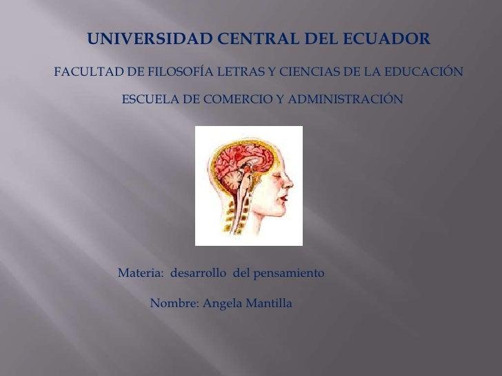 UNIVERSIDAD CENTRAL DEL ECUADORFACULTAD DE FILOSOFÍA LETRAS Y CIENCIAS DE LA EDUCACIÓN         ESCUELA DE COMERCIO Y ADMIN...