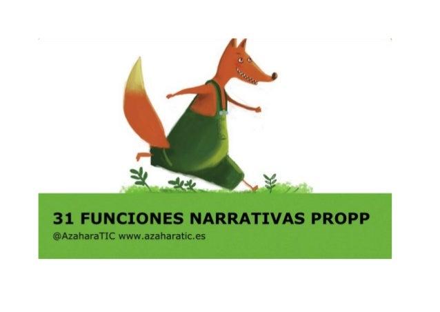 Funciones narrativas de Propp (con la herramienta Storybird).