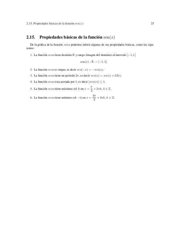 2.15. Propiedades básicas de la función sen(x)                                                    252.15. Propiedades bási...