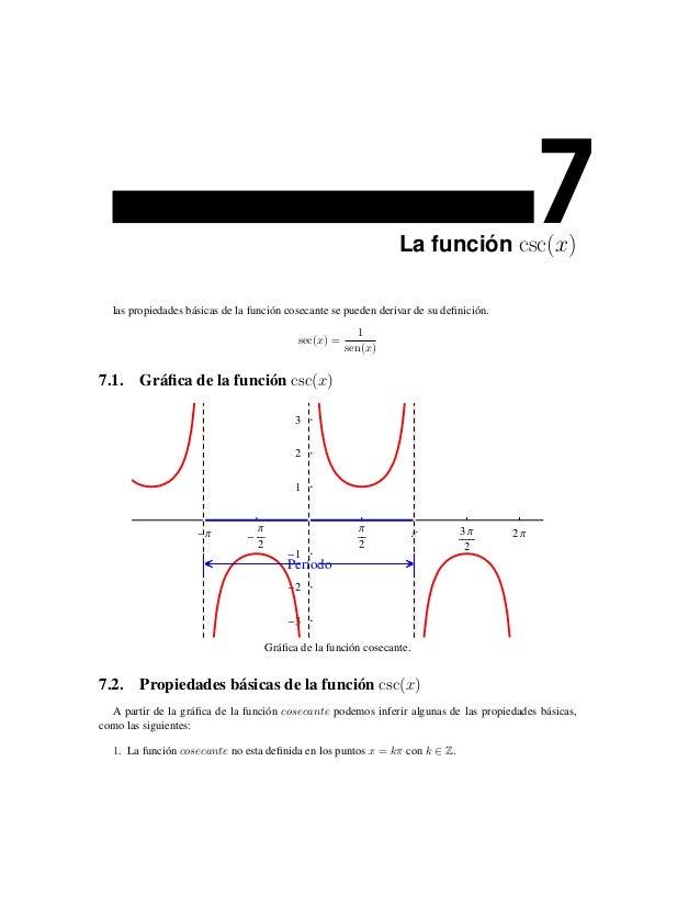 La función csc(x)                                                                                            7  las propie...