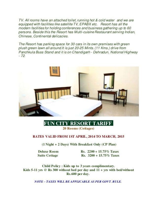 Fun city resort- Ramgarh, Panchkula Nr.Chandigarh (Haryana)