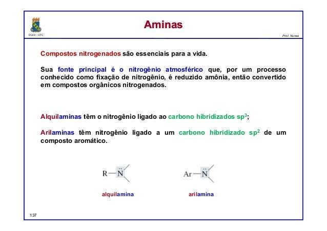 DQOI - UFC Prof. Nunes Compostos nitrogenados são essenciais para a vida. Sua fonte principal é o nitrogênio atmosférico q...
