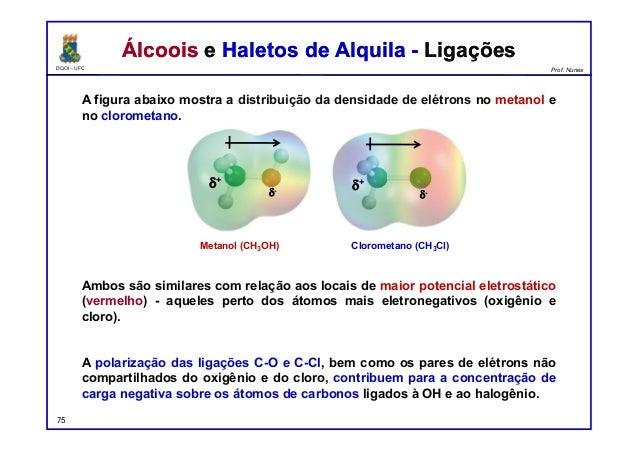 DQOI - UFC Prof. Nunes Álcoois e Haletos de Alquila - LigaçõesÁlcoois e Haletos de Alquila - Ligações A figura abaixo most...
