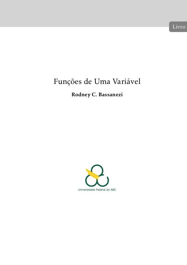 Funções de Uma Variável  Rodney C. Bassanezi  Livro