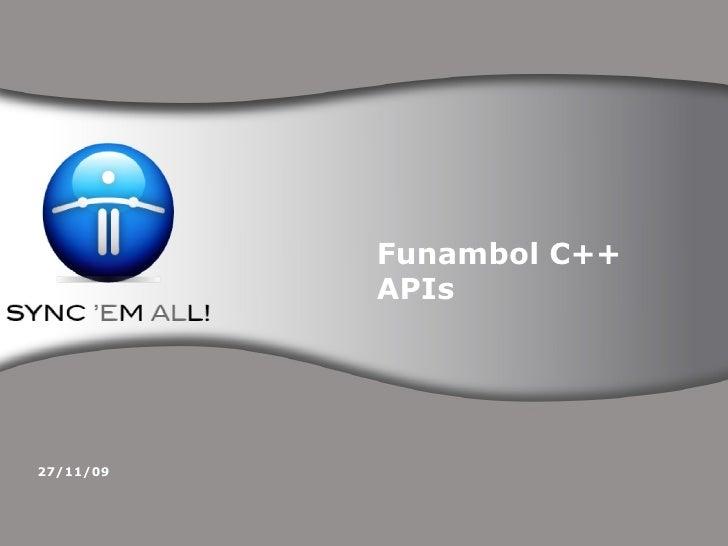 Funambol C++ APIs