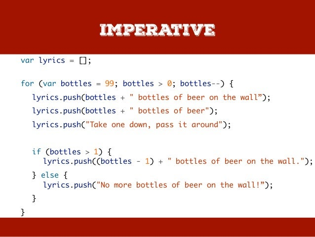 Bottles Of Beer On The Wall 18 Imperative Var Lyrics