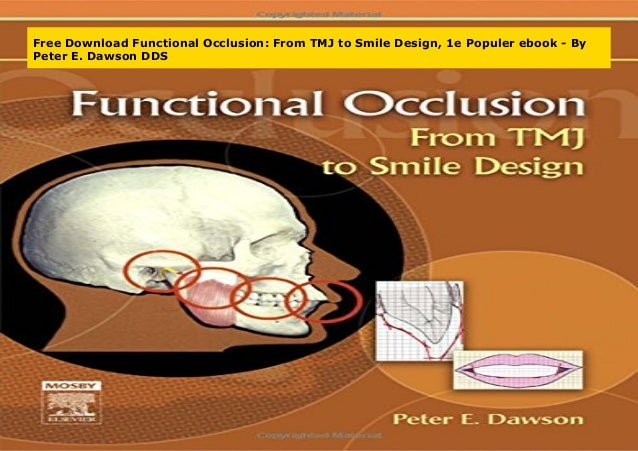 functional occlusion from tmj to smile design pdf free download