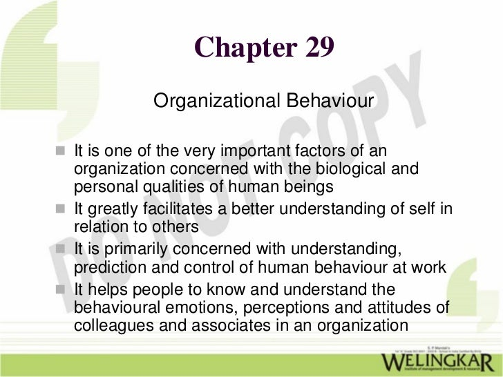 four elements of organizational behavior Clark's 'big dog's leadership page' remarks that although there are four separate organizational models, almost no organization operates exclusively in one there will usually be a one, with one or more areas overlapping in the other models.