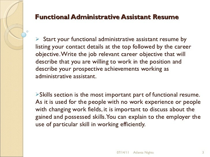 Functional Administrative Assistant Resume ...  Functional Resume For Administrative Assistant